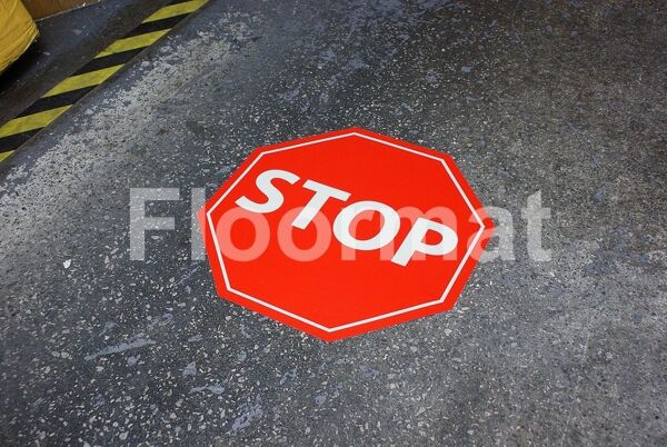 fm12 stop sign Floormat.com Floormat.com warehouse signs are durable, self-adhesive signs constructed from industrial grade plastic. Intended for use in factory warehouses and buildings where restrictions and safety notifications need to be highlighted.