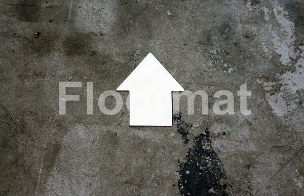 permaroute arrow Floormat.com Floormat.com warehouse markers are durable, self-adhesive signs constructed from industrial grade plastic. Intended for use in factory warehouses and buildings where restrictions and safety notifications need to be highlighted.