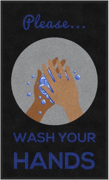 floor mat wash hands