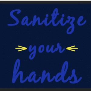 sanitize floor mat
