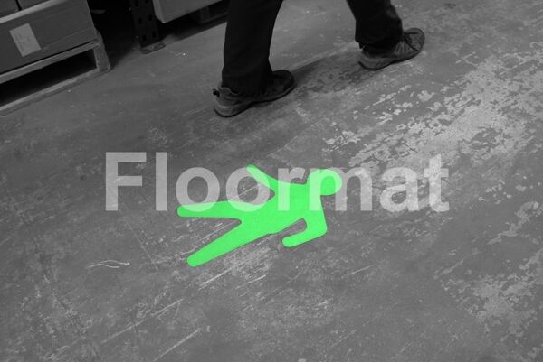 walking man situ bw Floormat.com Floormat.com warehouse markers are durable, self-adhesive signs constructed from industrial grade plastic. Intended for use in factory warehouses and buildings where restrictions and safety notifications need to be highlighted.