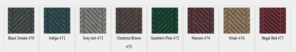 """waterhog eco elite colors Floormat.com Waterhog mats are constructed with a 100% post consumer recycled P.E.T. polyester fiber system. The herringbone pattern complements Waterhog Eco Elite Roll Goods. <ul> <li>30 oz. sq/yd 100% post consumer recycledPETfabric from plastic bottles</li> <li>3/8"""" thick bi-level surface effectively removes and stores dirt and moisture beneath shoe level between cleanings</li> <li>Unique """"Water Dam"""" allows the Waterhog mat to hold up to 1 1/2 gallons of water per sq yard</li> </ul>"""