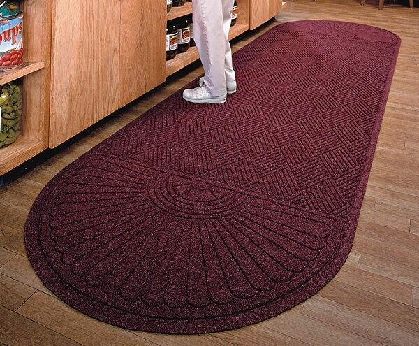 """waterhog eco grand premier 3 Floormat.com Entrance Scraper-Wiper Indoor or Outdoor Matting. The ends that are the rounded end of the mat. Some mats have two rounded ends. The application of the mat will determine which you need. If the mat will be directly against an entry door, you would only need one rounded end and the flat end will go against the door. <ul> <li>Stands up to salt and ice melt</li> <li>TriGrip rubber backing resists slipping, curling and cracking</li> <li>Passes Flammability Standard DOC-FF-1-70</li> </ul> <h2>Eco-friendly & Luxury Carpet Matting</h2> Made of 100% Post-Consumer Recycled PET Polyester reclaimed from plastic drink bottles, this attractive new mat combines years of WaterHog bi-level cleaning technology with the most unique design concept ever! Who said a mat has to look like a """"door mat?"""" Not anymore with these attractive diamond pattern mats! Great for Malls, Banks, Hotels Offices, Restaurants, Healthcare, Supermarkets, and more!<b>Andersen Waterhog Eco Grand Premier Benefits:</b> <ul> <li>Face fabric is heavy 30 oz./sq. yd. 100% Post-Consumer Recycled PET Polyester reclaimed from plastic drink bottles</li> <li>Eight Attractive Colors in Diamond Pattern</li> <li>New Fashion Borders</li> <li>Large Selection of Sizes</li> <li>Smooth or Special Tri-Grip Cleated Back to Minimize Movement; SBR Rubber with 15% post-consumer recycled tires</li> </ul>"""