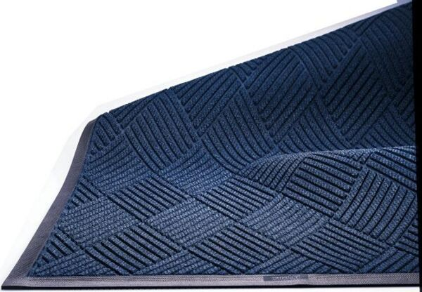 """waterhog eco premier fashion 1 1 Floormat.com This mat has a beautiful diamond pattern that is as strong as it is durable. Made with 30 oz./sq.yd. polypropylene fabric that is stain resistant. <ul> <li>3/8"""" thick bi-level surface effectively removes and stores dirt and moisture beneath shoe level between cleanings</li> <li>Rubber reinforced face nubs prevent pil from crushing extending performance life of the product</li> <li>Unique """"Water Dam"""" allows the Waterhog mat to hold up to 1 1/2 gallons of water per sq yard, water and dirt stay on mat</li> </ul>"""