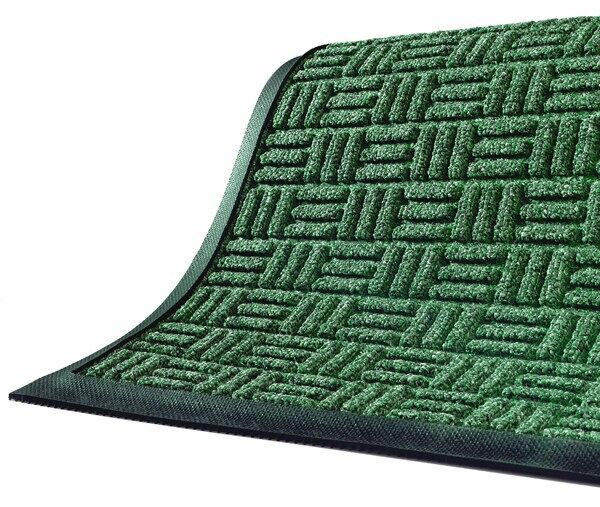 waterhog masterpiece mats 1 Floormat.com Interior scraper-wiper entrance mats for medium traffic areas <ul> <li>28 oz poyproplyene face and a rubber backing with 20% post-consumer recycled tire content</li> <li>Cleated backing (standard) for carpeted floors, optional smooth back for hard floor surfaces and Anchor Safe backing for maximum movement control for problem areas</li> <li>Construction provides a rubber reinforced bi-level surface for long-term service</li> </ul> <h2>Waterhog Masterpiece Select</h2> This entrance mat combines beauty with durability with a unique, parquet pile design. These mats still provide the superior moisture and dirt removal one expects from Waterhog mats. <ul> <li>Innovative parquet design is engineered to scrape dirt and water off feet from all traffic angles and look great doing it</li> <li>Construction provides a rubber reinforced bi-level surface for long-term service</li> <li>28 oz Polypropylene face and a rubber backing with 20% postconsumer recycled tire content</li> <li>Rubber water dam border to keep moisture and dirt from migrating off the mat</li> <li>Cleated backing (standard) for carpet floors or optional smooth back for hard floors</li> <li>Rubber border only (fashion border not available)</li> <li>Not recommended for use in areas exposed to grease or petroleum products</li> <li>Ideal choice for medium traffic placements</li> </ul>